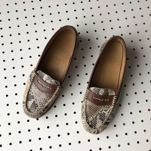 Bass Shoes - BASS WEEJUNS 7.5 snakeskin loafer driving shoe
